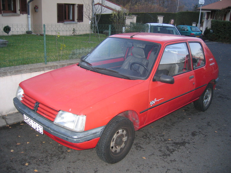 1990 Peugeot 205 Champion the day I purchased it